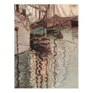 Carte Postale Port d'Egon Schiele- de Trieste