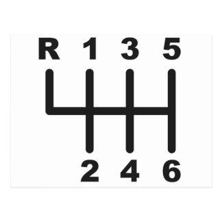 Carte Postale Porte de décalage de 6 vitesses
