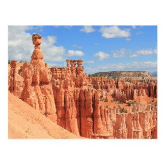 Carte postale - porte-malheurs de canyon de Bryce