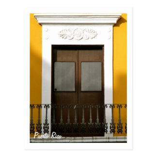 Carte Postale Porto Rico, ventanas Viejo San Juan