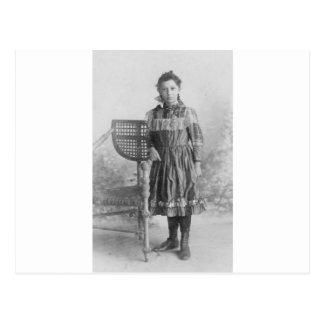 Carte Postale portrait 1900's de fille