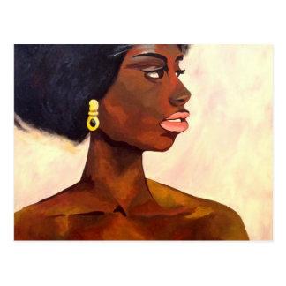 Carte Postale Portrait africain de femme de juin (art de