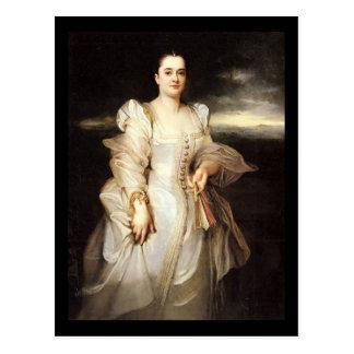 Carte Postale Portrait d'Adolphe Monticelli d'une femme