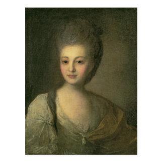 Carte Postale Portrait d'Aleksandra P. Struyskaya 1772