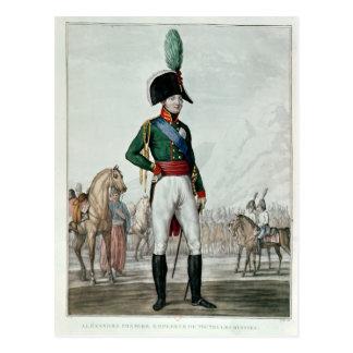 Carte Postale Portrait d'Alexandre I Pavlovich avec son armée