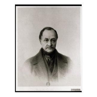 Carte Postale Portrait d'Auguste Comte, philosophe français