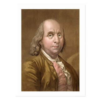 Carte Postale Portrait de Benjamin Franklin (1706-90), de 'le