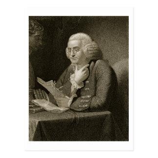 Carte Postale Portrait de Benjamin Franklin, gravé par Thomas