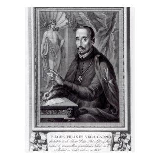 Carte Postale Portrait de bond Felix de Vega Carpio