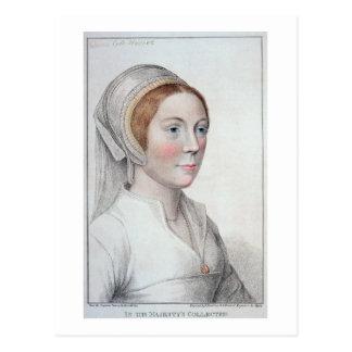 Carte Postale Portrait de Catherine Howard (1520-42) gravé par