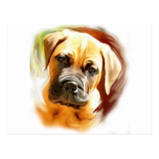 Carte Postale portrait de chiot de mastiff