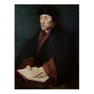 Carte Postale Portrait de Desiderius Erasmus de Rotterdam