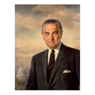 Carte Postale Portrait de fonctionnaire de Lyndon Johnson