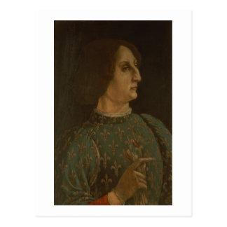 Carte Postale Portrait de Galeazzo Mario Sforza (1444-76) c.1471