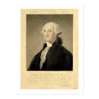 Carte Postale Portrait de George Washington, gravé par William