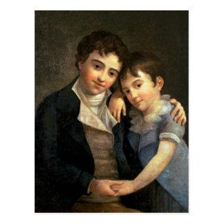 Carte Postale Portrait de Karl Thomas et de Franz Xaver