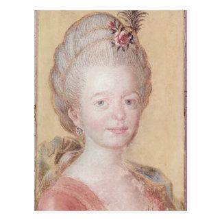 Carte Postale Portrait de la fille de Karl Linnaeus