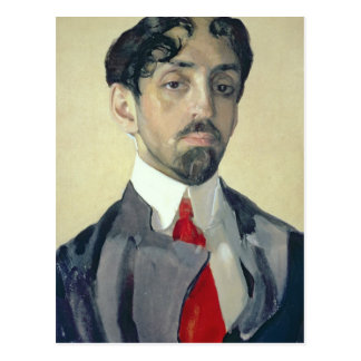 Carte Postale Portrait de Mikhail Kuzmin, 1909