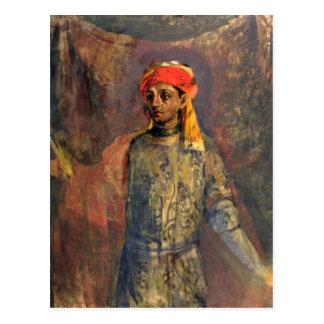 Carte Postale Portrait de Mikhail Kuzmin, 1911-12