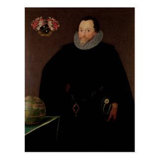 Carte Postale Portrait de monsieur Francis Drake 1591