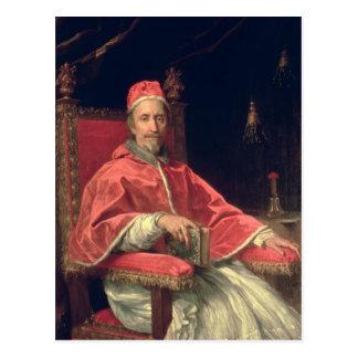 Carte Postale Portrait de pape Clement IX