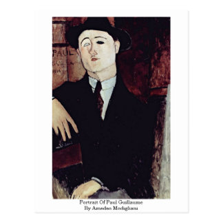 Carte Postale Portrait de Paul Guillaume par Amedeo Modigliani