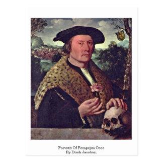 Carte Postale Portrait de Pompejus Occo par Dirck Jacobsz.