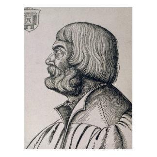 Carte Postale Portrait de profil d'Albrecht Durer, 1527