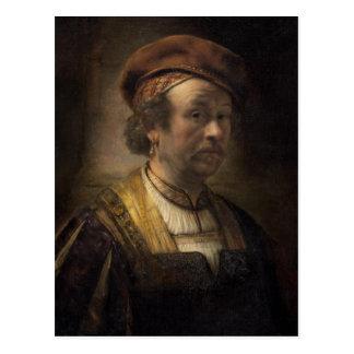 Carte Postale Portrait de Rembrandt, 1650 (huile sur la toile)