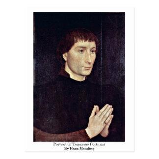 Carte Postale Portrait de Tommaso Portinari par Hans Memling