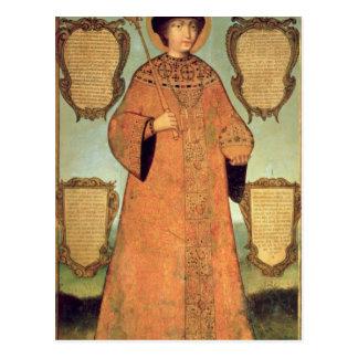 Carte Postale Portrait de tsar Fyodor Alexeevich