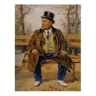 Carte Postale Portrait de Vladimir Makovsky- d'une séance