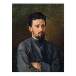 Carte Postale Portrait de Vsevolod M. Garshin, 1878