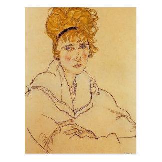 Carte Postale Portrait d'Egon Schiele- d'Édith Schiele