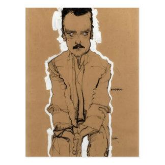 Carte Postale Portrait d'Egon Schiele- d'Eduard Kosmack