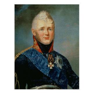 Carte Postale Portrait d'empereur Alexandre I