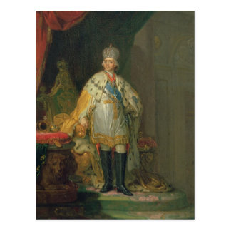 Carte Postale Portrait d'empereur Paul I, 1800