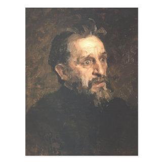 Carte Postale Portrait d'Ilya Repin- de peintre Grigory
