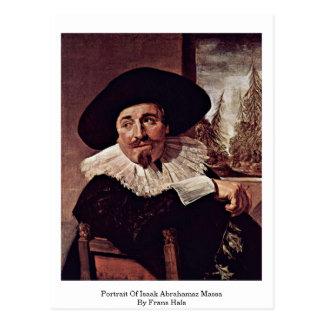 Carte Postale Portrait d'Isaak Abrahamsz Massa par Frans Hals