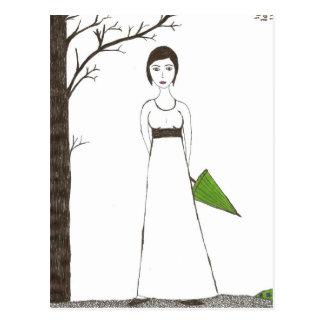 Carte Postale Portrait du riz de Jane Austen