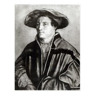 Carte Postale Portrait d'un homme avec un casquette rouge,