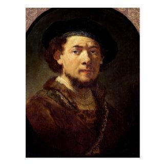 Carte Postale Portrait d'un homme avec une chaîne d'or