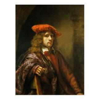 Carte Postale Portrait d'un jeune homme dans un casquette rouge