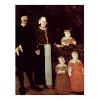 Carte Postale Portrait d'une famille de Hambourg, c.1640