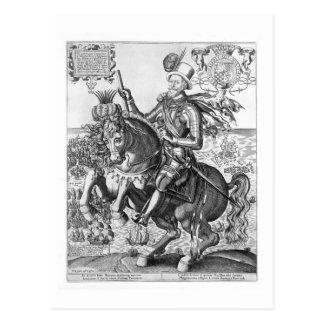 Carte Postale Portrait équestre de Charles Howard (1536-1624)