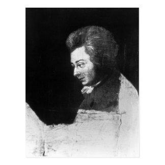 Carte Postale Portrait non fini de Wolfgang Amadeus Mozart