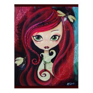 """Carte Postale """"Portrait rouge """""""