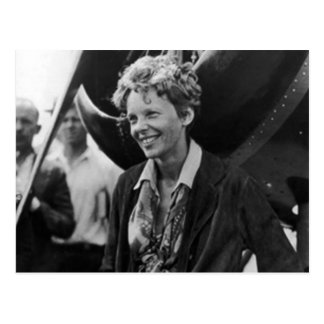 Carte Postale Portrait vintage de photo d'Amelia Earhart