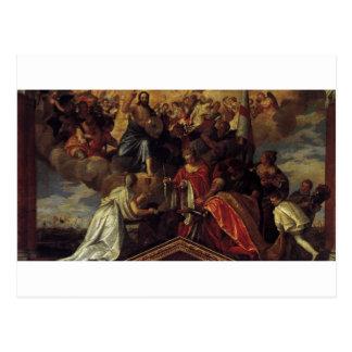 Carte Postale Portrait votif du doge Sebastiano Venier par Paolo