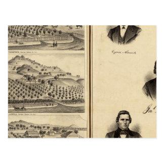 Carte Postale Portraits de Gen'l MG Vallejo, F Bedwell, lame de